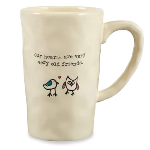Our Hearts Are Very Very Old Friends Ceramic Coffee Mug - Ivory - 12 oz.