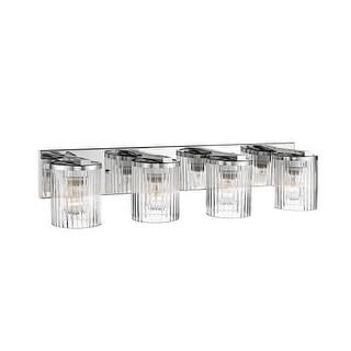 "Millennium Lighting 234 4 Light 29"" Wide Bathroom Vanity Light with Glass Shades"