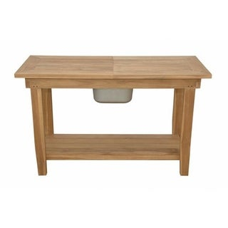 Anderson Teak TBF-4747BS Montage 47 in. Square Folding Butterfly Table