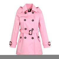 ae2e3470a Shop Wenchoice Girls Pink Crease Wind-Resistant Belted Coat - Free ...