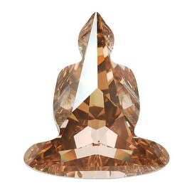 Swarovski Crystal, 4779 Buddha Fancy Stone 18x15.6mm, 1 Piece, Crystal Golden Shadow F
