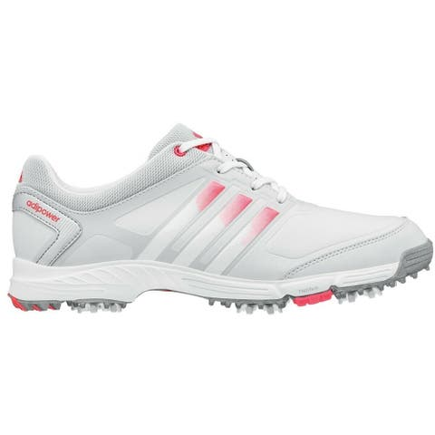 Adidas Women's Adipower TR Grey/White/Flash Red Golf Shoes Q46903