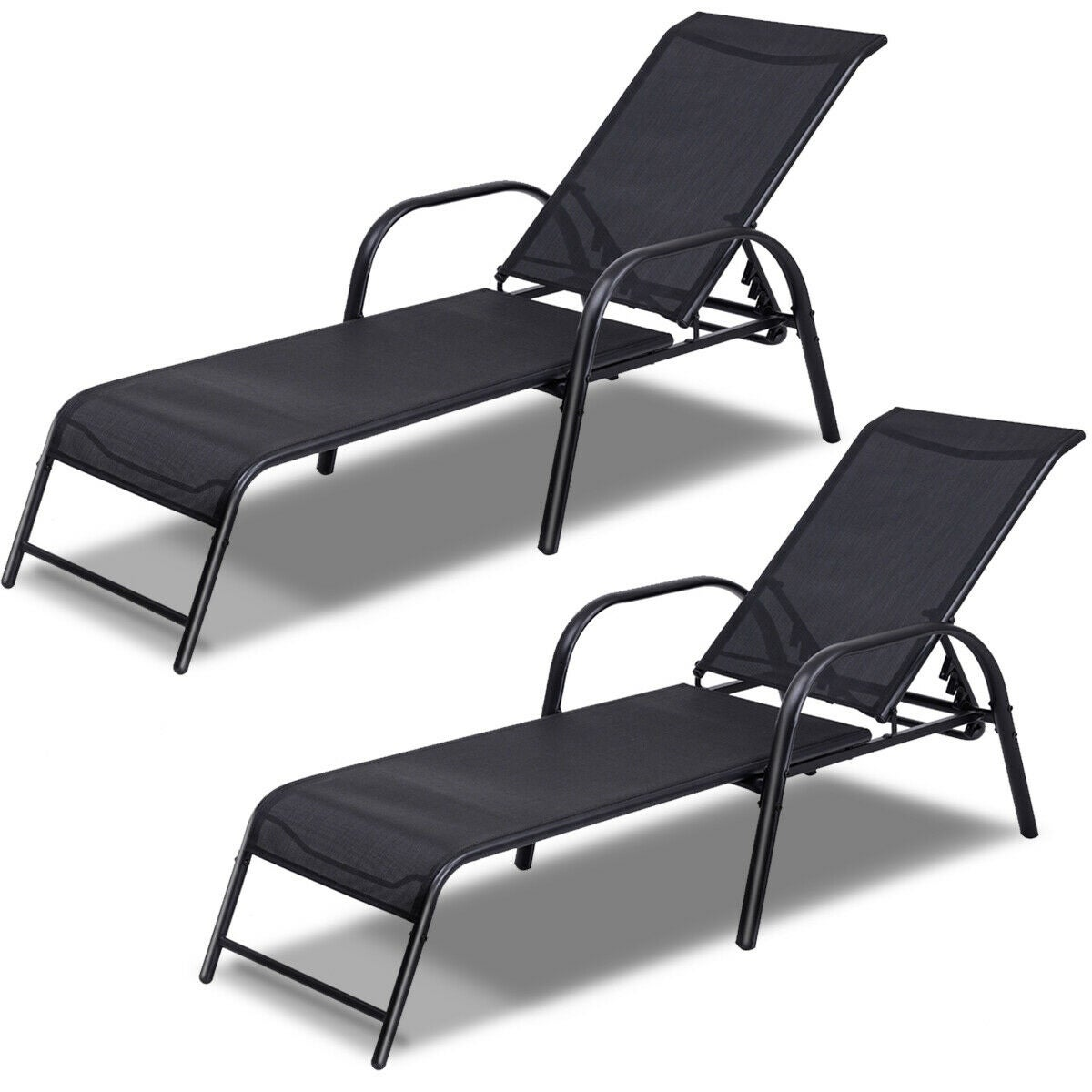 Costway Set Of 2 Patio Lounge Chairs