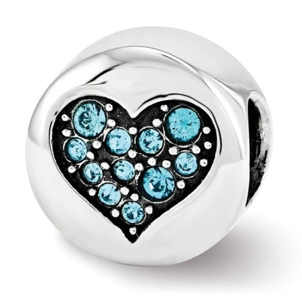 Sterling Silver Reflections Swarovski Elements Dec-Luck Bead (4mm Diameter Hole)