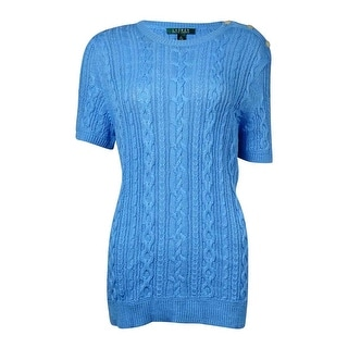 Lauren Ralph Lauren Women's Cable Short Sleeves Sweater - xL