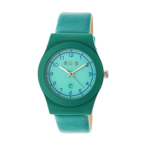 Crayo Dazzle Women's Quartz Watch, Genuine Leather Band