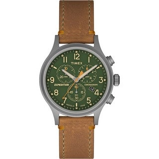 Timex Expedition Scout Chrono Watch - Tan/Green Expedition Scout Chrono Slip Thru Watch