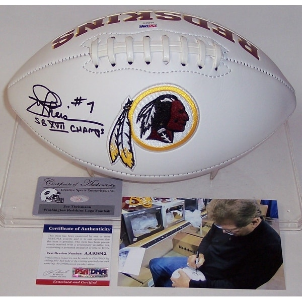 Shop Joe Theismann Autographed Hand Signed Washington Redskins Logo Football  PSADNA - Free Shipping Today - Overstock.com - 13484430 70c8ae57c
