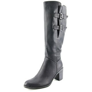 Two Lips Season Wide Calf Women Round Toe Synthetic Knee High Boot