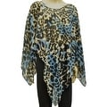 Beautiful Chiffon Ponchos Wrap Scarf Brown Blue Beige Black Leopard - Thumbnail 0