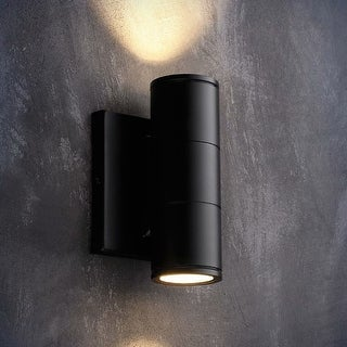 Tutum 10W LED Wall Lamp, Cylinder UP Down Light, Black, 3000K Warm White