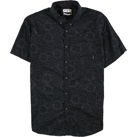 Billabong Mens Sundays Button Up Shirt, Black, Large