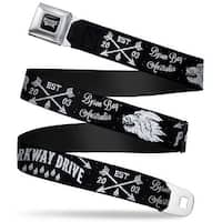 Parkway Drive Full Color Black Gray White Parkway Drive Est 2003 Byron Bay Seatbelt Belt