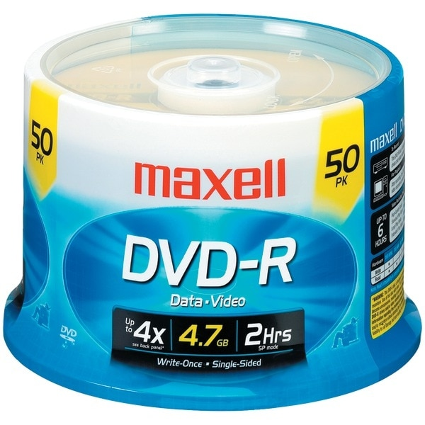 Maxell 635053/638011 4.7Gb 120-Minute Dvd-Rs (50-Ct Spindle)