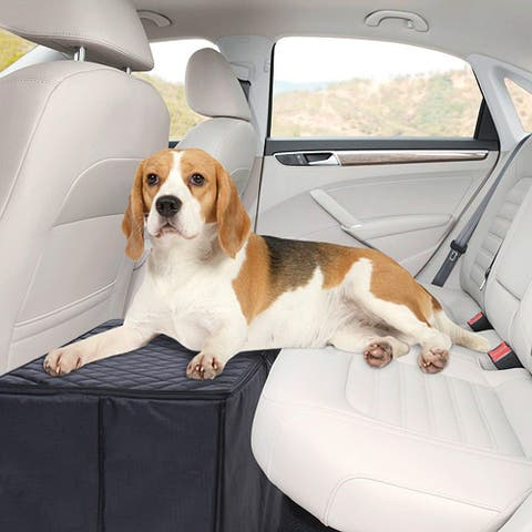 SkyMall Dog Car Seat Extender Back Seat Platform with Storage