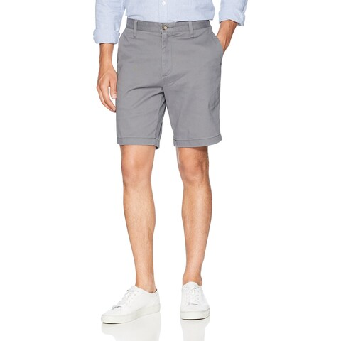 Nautica Gray Mens Size 42 Casual Classic Fit Stretch Deck Shorts