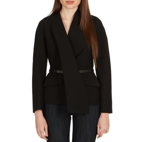 Dior Women's Black Wool Blend Skinny Belt Blazer