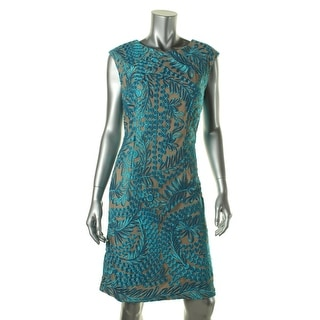 Alex Evenings Womens Lace Embroidered Cocktail Dress - 10