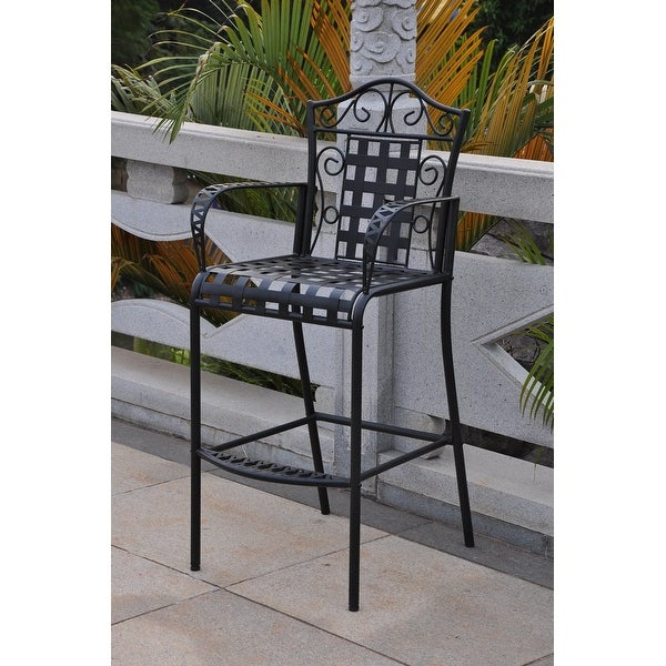 International Caravan Mandalay Iron Bar Chairs (Set of 2). Opens flyout.