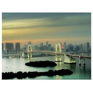 """Tokyo cityscape."" Poster Print"