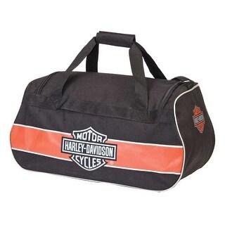 Harley-Davidson Classic Bar & Shield Sports Duffel Bag w/ Strap 99418 RUST/BLACK