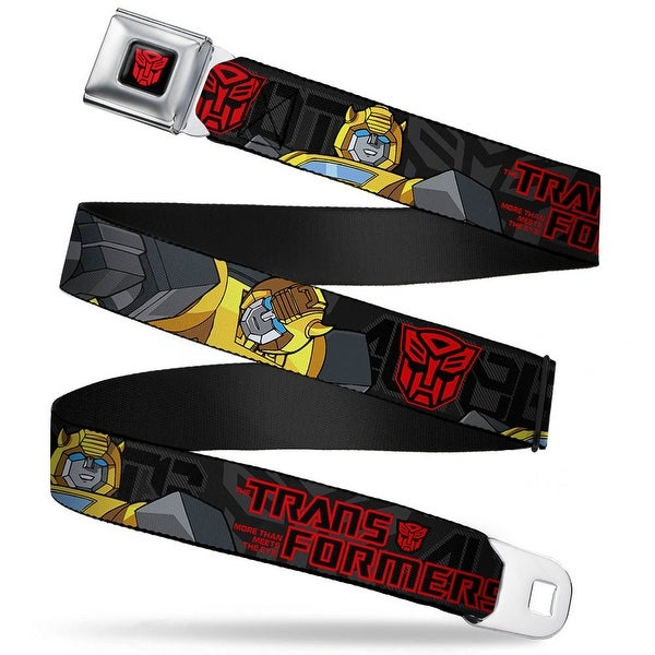 Transformers Autobot Logo Full Color Black Red Transformers Bumble Bee Pose Seatbelt Belt