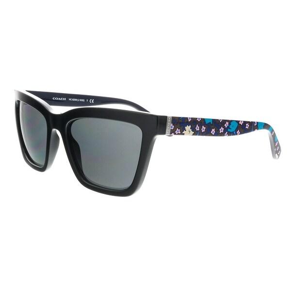 90932108fa939 Shop Coach HC8208 545787 Black Square Sunglasses - 55-19-140 - Free ...