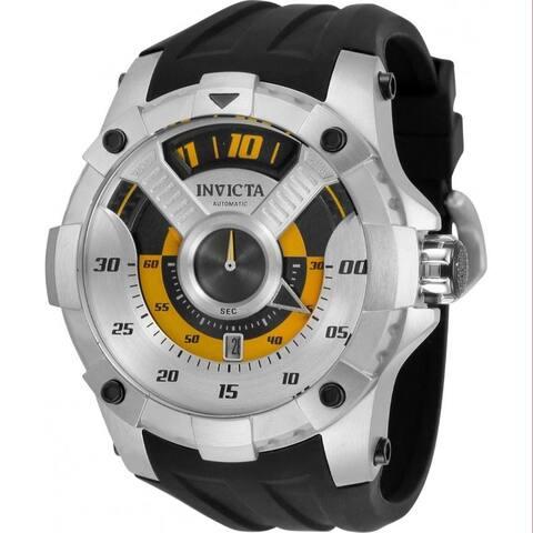 Invicta Men's 33484 'S1 Rally' Automatic Black Silicone Watch - Silver