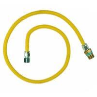 "BrassCraft CSSD105E-48P Gas Appliance Connectors, 3/4"" Mip x 1/2"" Fip x 48"""