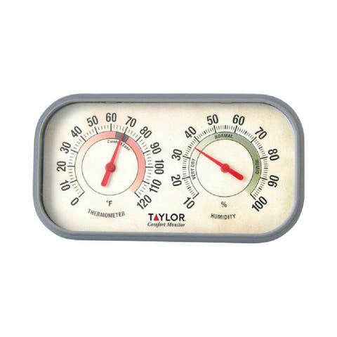 Taylor 5506 ColorTrack Humidity & Thermometer Combo with Bold Graphics