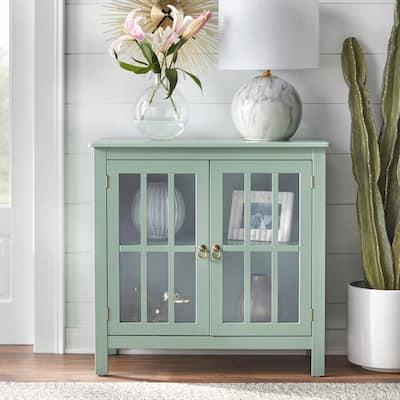 Simple Living Portland Glass Door Cabinet