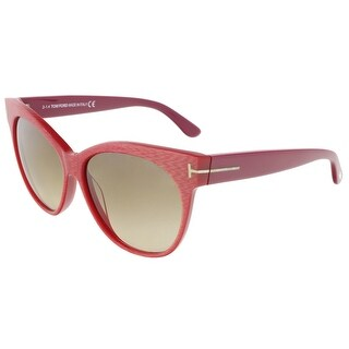 Tom Ford FT0330/S 77G Saskia Coral Pink Cateye Sunglasses