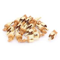 PCB Panel Mount AV RCA Audio Video Male Plug Connector Gold Tone 16PCS