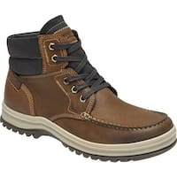 Rockport Men's World Explorer Moc Toe Winter Boot Tan Leather
