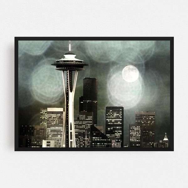 Space Needle Seattle Washington City Framed Wall Art Print