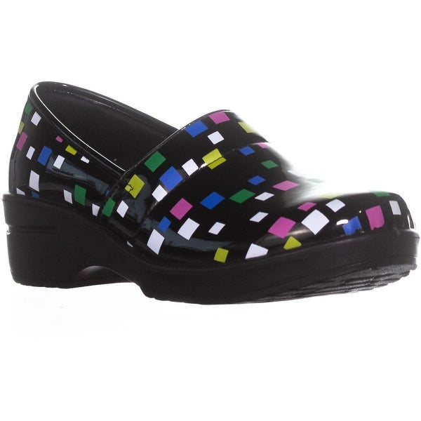 Easy Works by Easy Street Lyndee Health Care Professional Shoes, Black Multi - 11 w us
