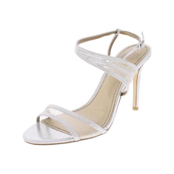 Badgley Mischka Womens Nova Evening Sandals Shimmer Open Toe - 6.5 medium (b,m)