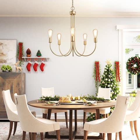"Glam 5-lights Chandeliers Pendants Lighting Hanging Ceiling Lamp - W25""xH26"""