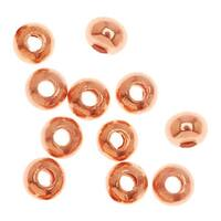 Bright Genuine Copper Rondelle Beads 3.2 x 2.5mm (100)