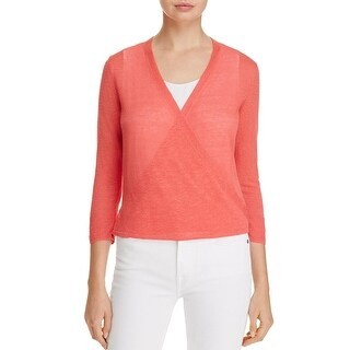 Nic+Zoe Womens Cardigan Sweater Linen Blend Four Way