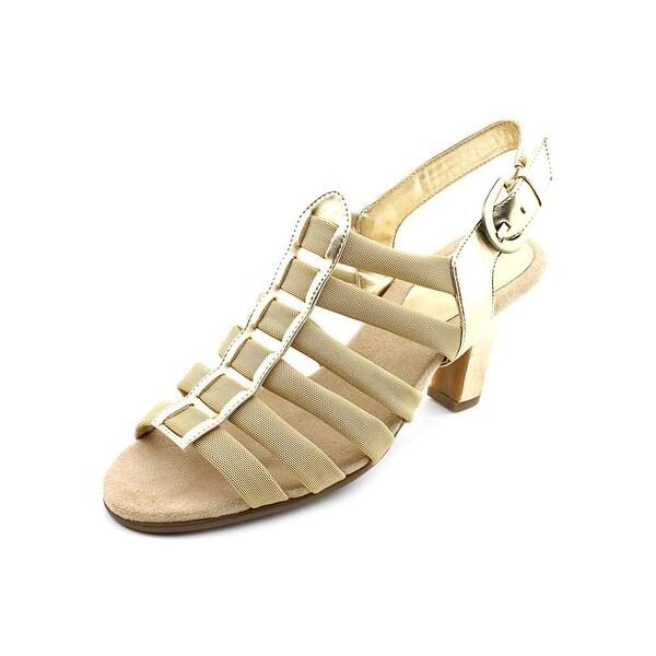 Aerosoles Gin Rickey Women Open Toe Canvas Gold Sandals