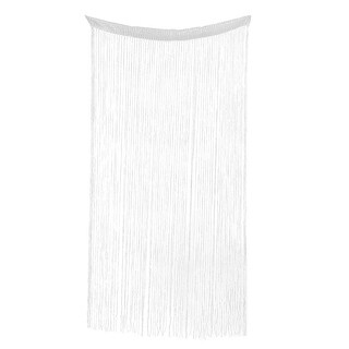 Sparkling Straight Line Tassel Divider Decoration String Curtain White - MultiColor