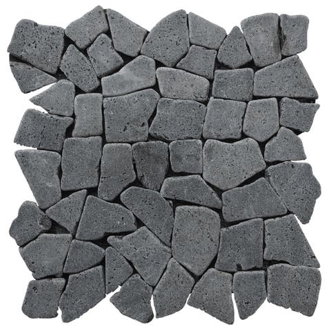 "Miseno MT-R3 Fit Mosaic - 11-3/8"" x 11-3/8"" Pebble Floor and Wall Mosaic Tile -"