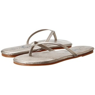 Yosi Samra NEW Silver Womens Shoes Size 5M Roee Metallic Flip Flop