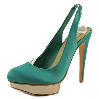 BCBG Max Azria Fondley   Round Toe Canvas  Heels