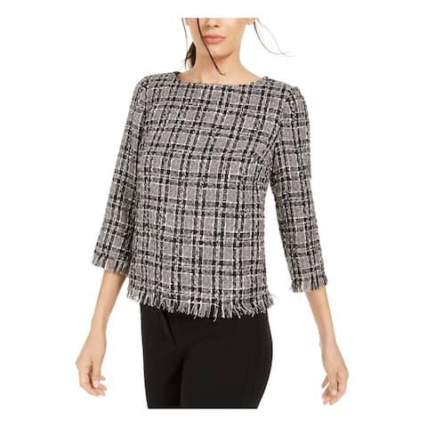 ANNE KLEIN Black 3/4 Sleeve Sweater XXS