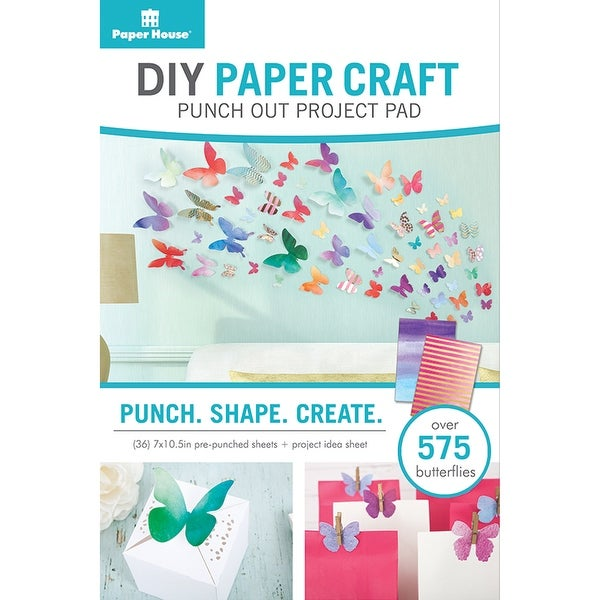 Shop Paper House Diy Paper Craft Punch Out Project Pad Butterflie