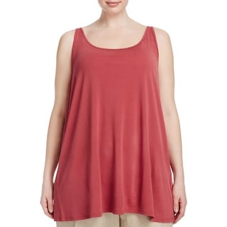 Eileen Fisher Womens Plus Tank Top Silk Drapey