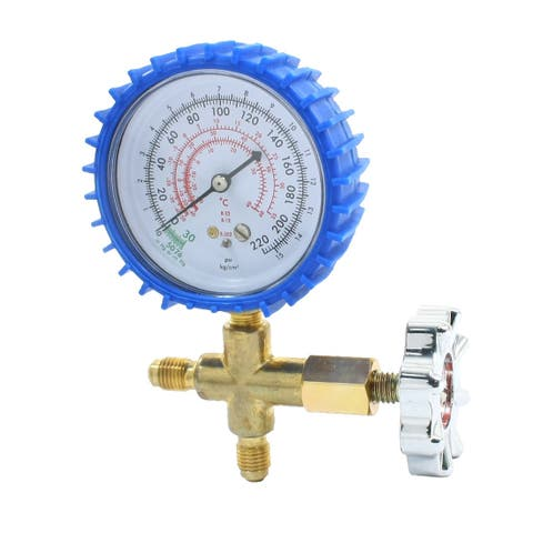 0-220 Psi Pressure Range Brass Single Gauge Valve for Air Condition