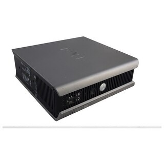 """Dell OptiPlex 755 USFF Standard Refurb PC - Intel Core 2 Duo E6400 2.13 GHz 4GB DIMM DDR2 SATA 3.5"""" 320GB DVD-ROM Windows 7 Pro"""